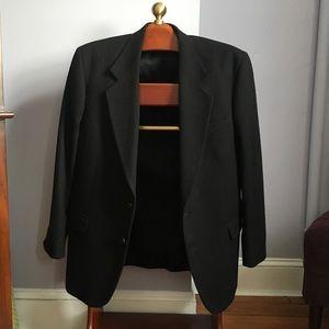 Oscar de la Renta Black Wool Blazer